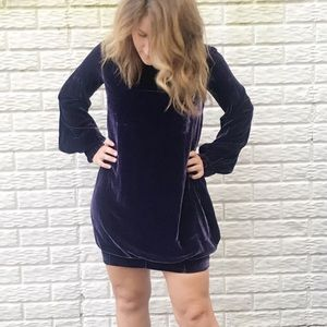Alexander McQueen Dresses - ALEXANDER MCQUEEN   sz 6 long sleeve velvet dress